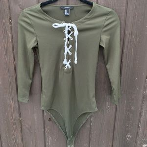 Olive Green tie up body suit from Forever21💚